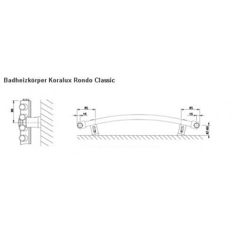 Bad Heizkörper - Handtuchtrockner Koralux Rondo